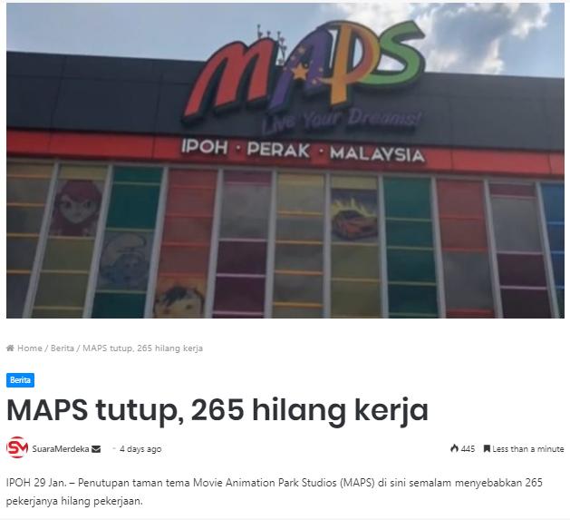 maps-ipoh-ditutup-265-orang-hilang-pekerjaan-jobless
